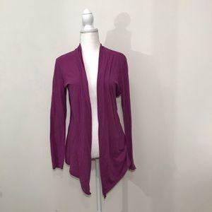 Athleta Purple Open Front Cardigan Size Large